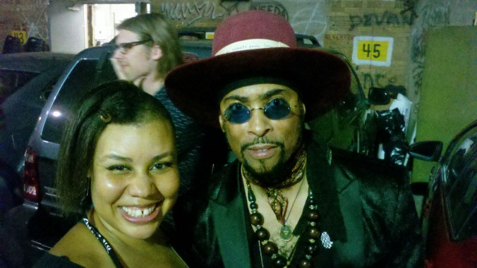 BRC President LaRonda Davis with André Cymone after the 3rd show of The Revolution at First Avenue, MPLS, 9/3/16